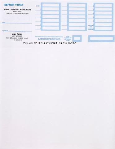 Printable Deposit Slip Accessories