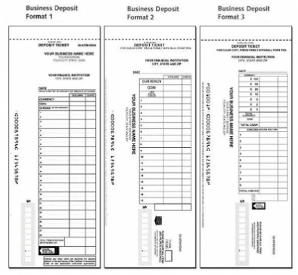 Manual deposit slips for business personal for Checking deposit slip template